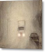 Fog On The Road To Walsenburg Metal Print