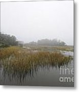Fog Over The Marsh Metal Print