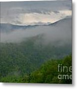 Fog Over The Smokies Metal Print