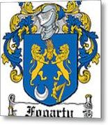 Fogarty Coat Of Arms Irish Metal Print