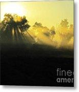 Fogged Up Sun Metal Print