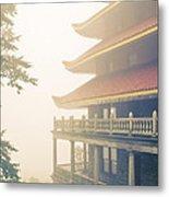 Foggy At The Reading Pagoda Metal Print