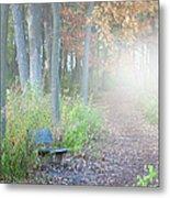 Foggy Autumn Morning Metal Print