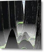 Foggy Canyon Pass Metal Print