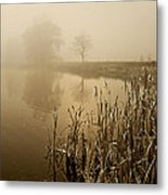 Foggy Day At Silver Lake Metal Print