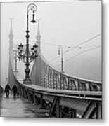 Foggy Day In Budapest Metal Print