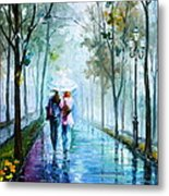 Foggy Day New Metal Print by Leonid Afremov