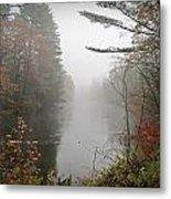 Foggy Fall River Metal Print