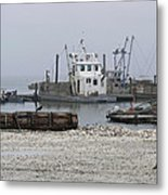 Foggy Harbor Metal Print