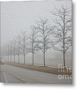 Foggy January Metal Print