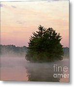 Foggy Lake Metal Print