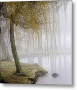 Foggy Lake Morning Metal Print
