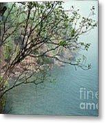 Foggy Lake Superior Metal Print