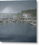 Foggy Coast Of Maine Metal Print