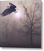 Foggy Morning Flight Metal Print