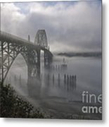 Foggy Morning In Newport Metal Print