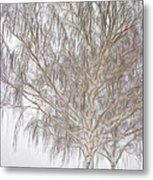 Foggy Morning Landscape - Fractalius 4 Metal Print by Steve Ohlsen