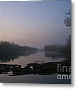 Foggy Morning On The River Metal Print
