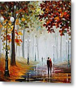 Foggy Morning - Palette Knife Contemporary Landscape Oil Painting On Canvas By Leonid Afremov - Size Metal Print