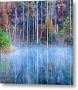 Foggy Morning Reflections Metal Print