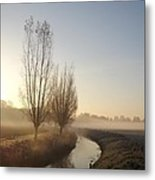 Foggy Morning With Nice View Metal Print