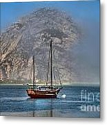 Foggy Morrow Bay Metal Print