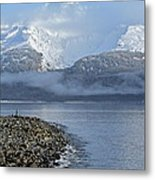 Foggy Mountain Beyond Metal Print