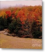 Foggy Mountain Landscape Metal Print