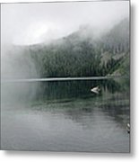 Foggy Mowich Lake Metal Print