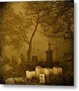 Foggy Necropolis Metal Print