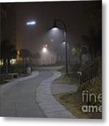 Foggy Path Metal Print by Nelson Watkins