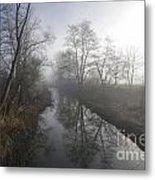 Foggy River Metal Print