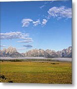 Foggy Sunrise On The Tetons - Grand Teton National Park Wyoming Metal Print