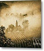 Foggy Tuscany Metal Print