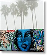 Foggy Venice Beach Metal Print