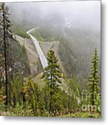 Foggy View From Icefields Parkway Metal Print