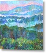 Foggy View From Mill Mountain Metal Print