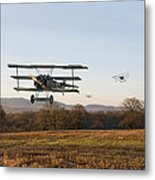 Fokker Dr1 - Day's End Metal Print by Pat Speirs