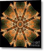 Folded 8-pointed Kaleidoscope Image Metal Print