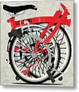 Folded Brompton Bike Metal Print by Andy Scullion