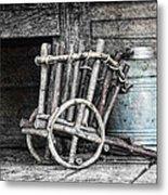 Folk Art Cart Still Life Metal Print by Tom Mc Nemar