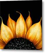 Folk Art Sunflower Metal Print