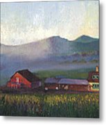 Folk School Barn At Dawn Metal Print by William Killen