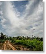 Follow The Dirt Road Home Metal Print by Kelly Kitchens