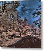 Follow The Infrared Road Metal Print by Thomas  MacPherson Jr
