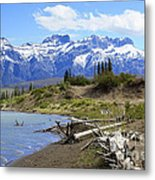 Following The Athabasca River Metal Print