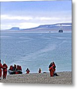 Following The Footsteps Of  Roald Amundsen.. Metal Print