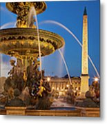 Fontaine Des Mers Metal Print
