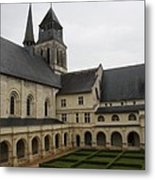 Fontevraud Abbey Courtyard -  France Metal Print