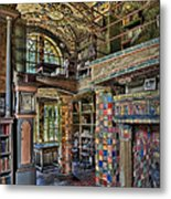 Fonthill Castle Library Room Metal Print